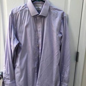 TM Lewin Purple Fitted Dress Shirt 16.5 34.5